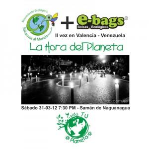 La Hora del Planeta bolsas ecologicas ebags publicidad