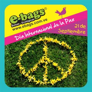 Día Internacional de la Paz 21/09 bolsas ecologicas ebags publicidad