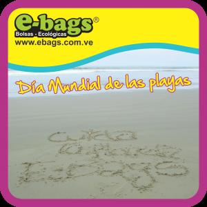 Tercer sábado de septiembre: Día Mundial de las Playas bolsas ecologicas ebags publicidad