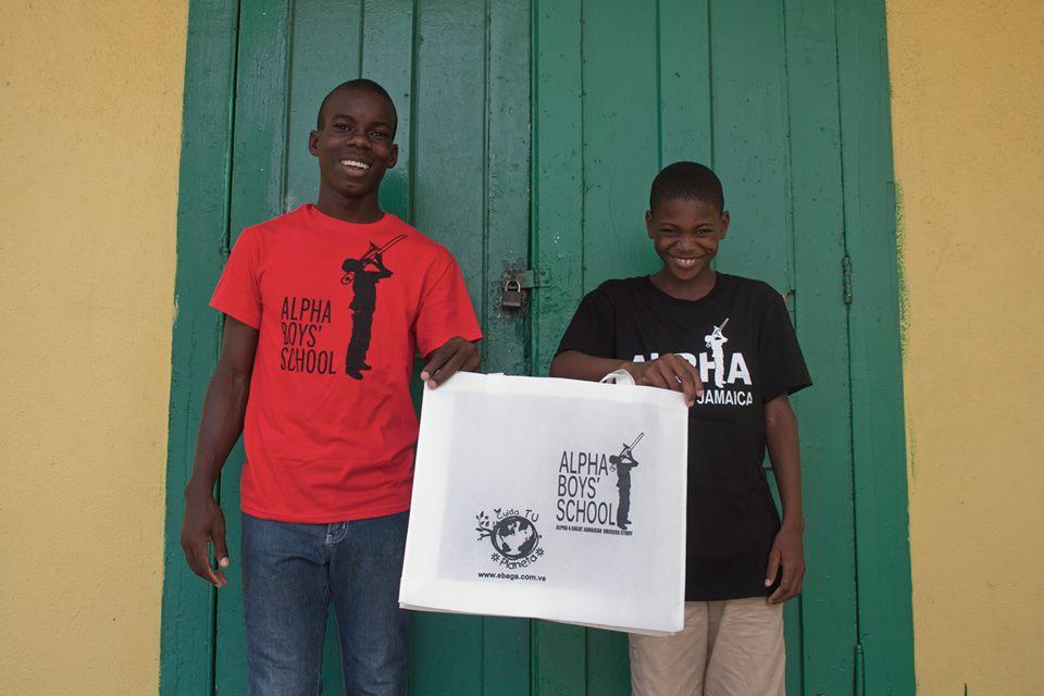 bolsas ecologicas lideres mundiales ebags jamaica pais naturaleza ecologia ecologico arte alpha boys school