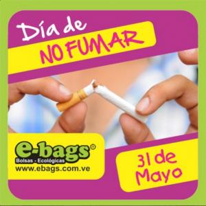 Día Mundial sin Tabaco bolsas ecologicas ebags publicidad