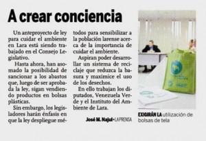 Venezuela Verde Promueve un Anteproyecto de Ley para regular el uso de las bolsas plásticas bolsas ecologicas ebags publicidad
