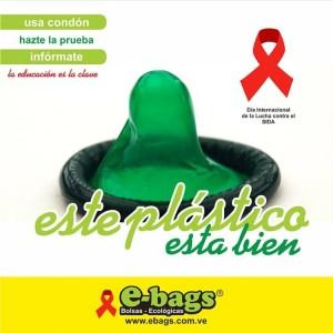Día Internacional de la Lucha contra el Sida bolsas ecologicas ebags publicidad